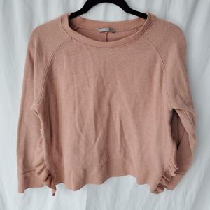 Zara Collection open side ruffle sweater